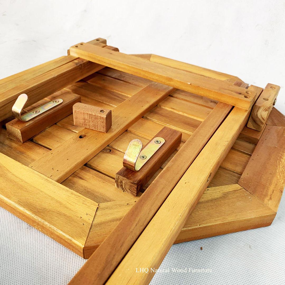 Chi tiết sản phẩm bàn cafe mini bát giác gỗ tràm