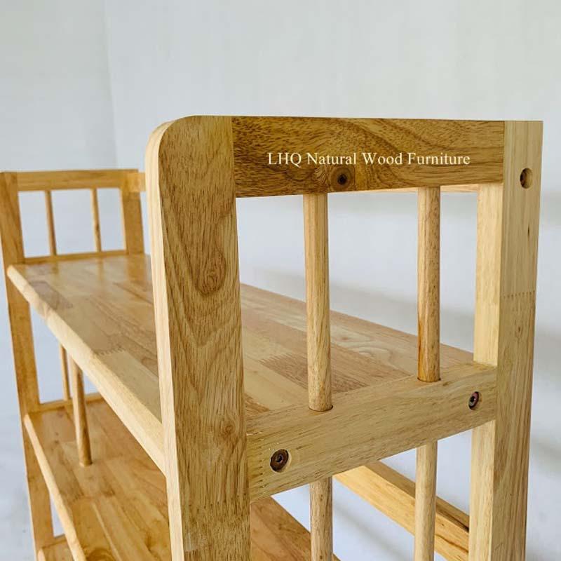 Kệ sách 3 tầng rộng 1m2 gỗ cao su tự nhiên