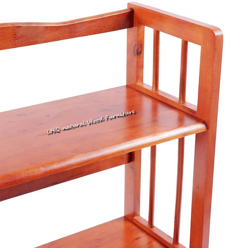 Kệ sách 3 tầng 80 cm được làm từ phôi gỗ to, chắc chắn