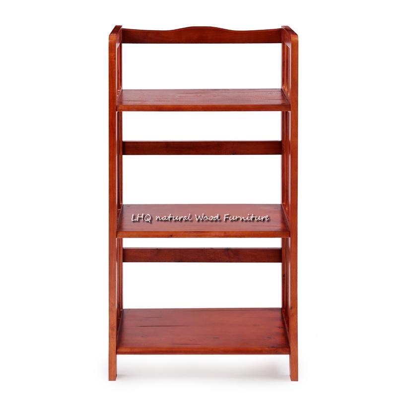 Kệ sách 3 tầng 50cm màu cánh dán phù hợp với nội thất cổ điển, sang trọng