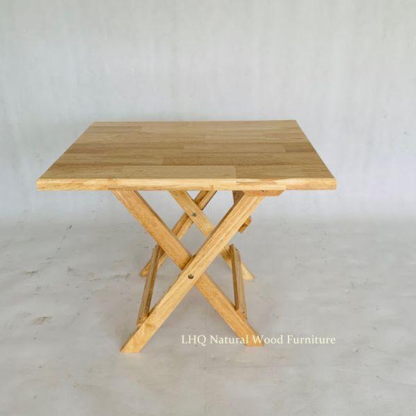 Bàn cafe mini gỗ cao su