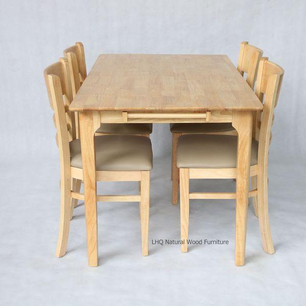 Bộ bàn ghế ăn Cabin - 4 ghế mặt đệm