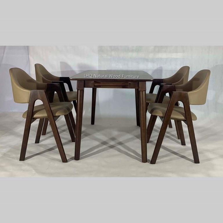Bộ bàn ghế ăn chữ A - 4 ghế