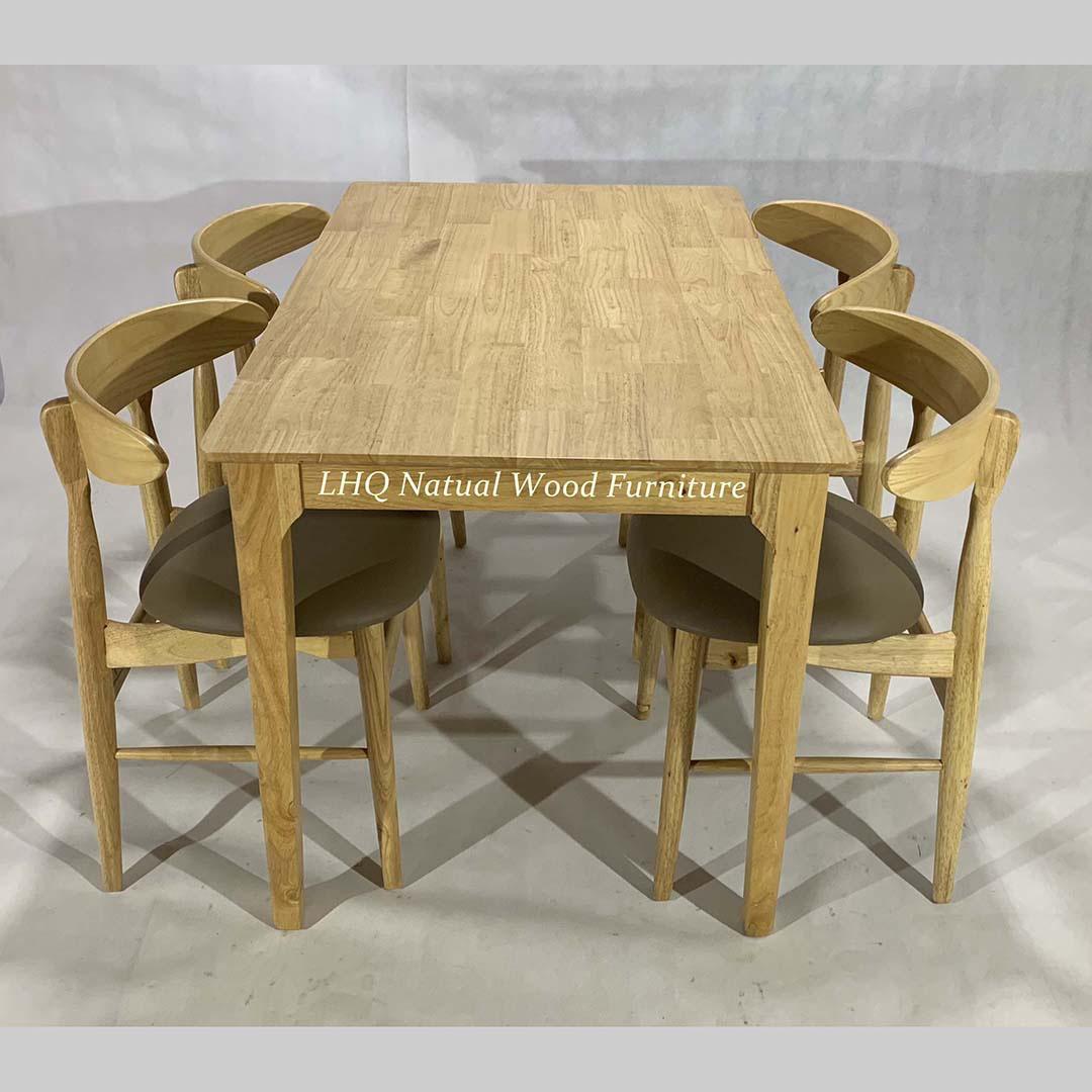Bộ bàn ghế ăn Vầng Trăng 4 ghế