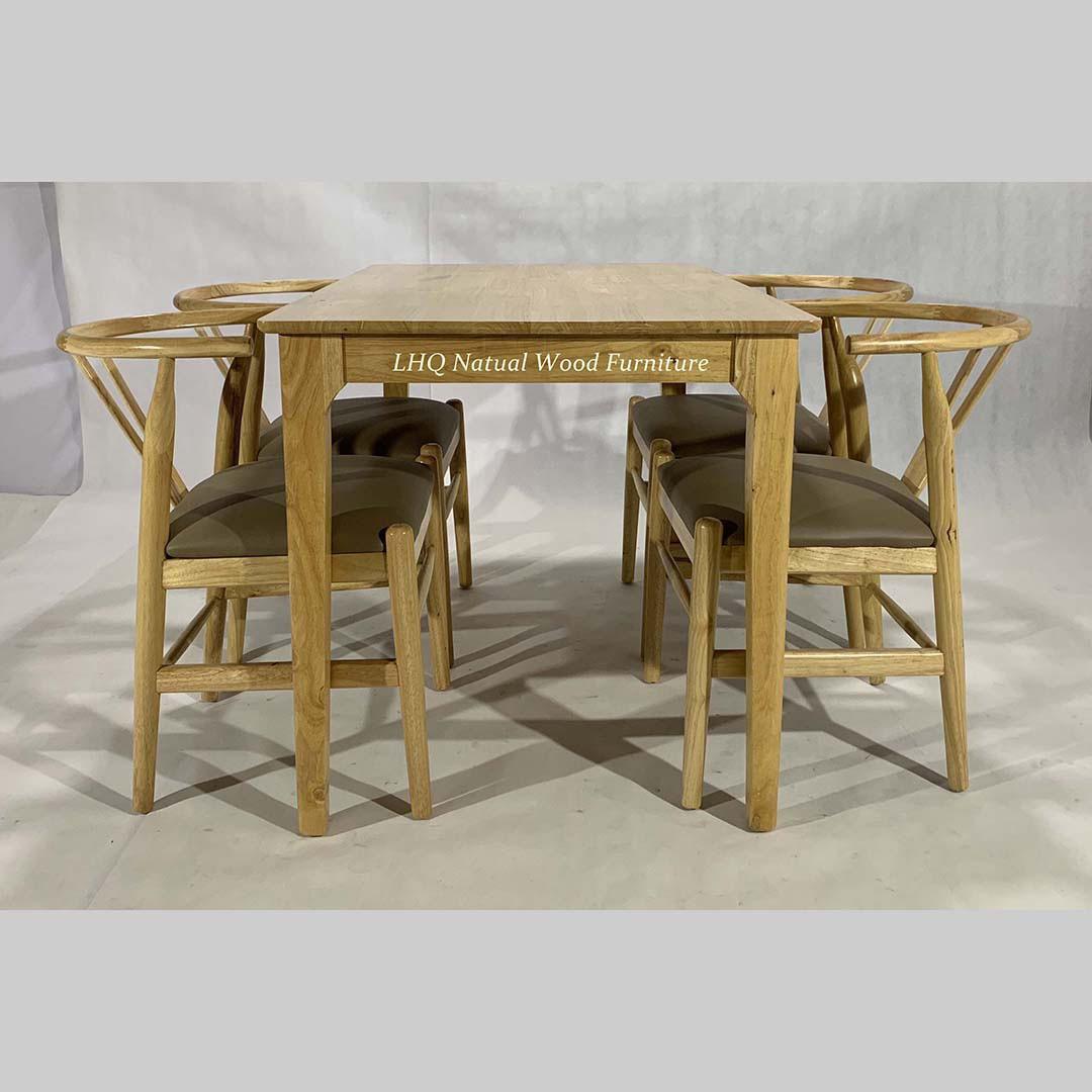 Bộ bàn ghế ăn Wishbone 4 ghế