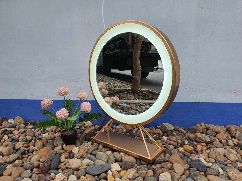 Gương Để Bàn Đèn Cảm Ứng D50 cm