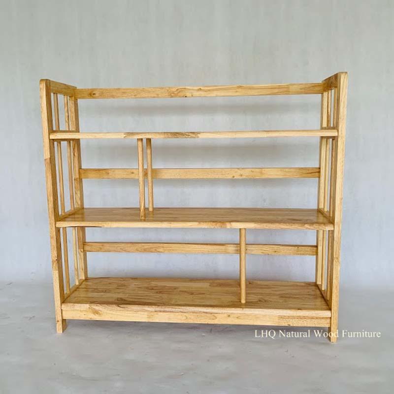 Kệ sách gỗ cao 3 tầng rộng 1m2